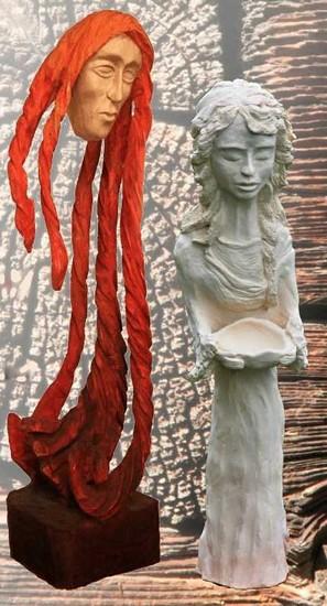 Výstava keramických a dřevěných soch Jaroslavy Eschlerové a Petra Eschlera