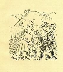Obrázek od O.Sekory v knize Jihomoravské sloupky (1929)