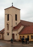 Kostel Sv. Klementa Maria Hofbauera v Tasovicích, který byl postaven na místě rodného domku světce.