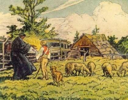 Obrázek z knihy ?Moravské národní pohádky? (Beneš Metod Kulda, rok vydání 1922).