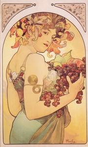 Ovoce, barevná litografie, 1897 (44,4x103,5 cm)