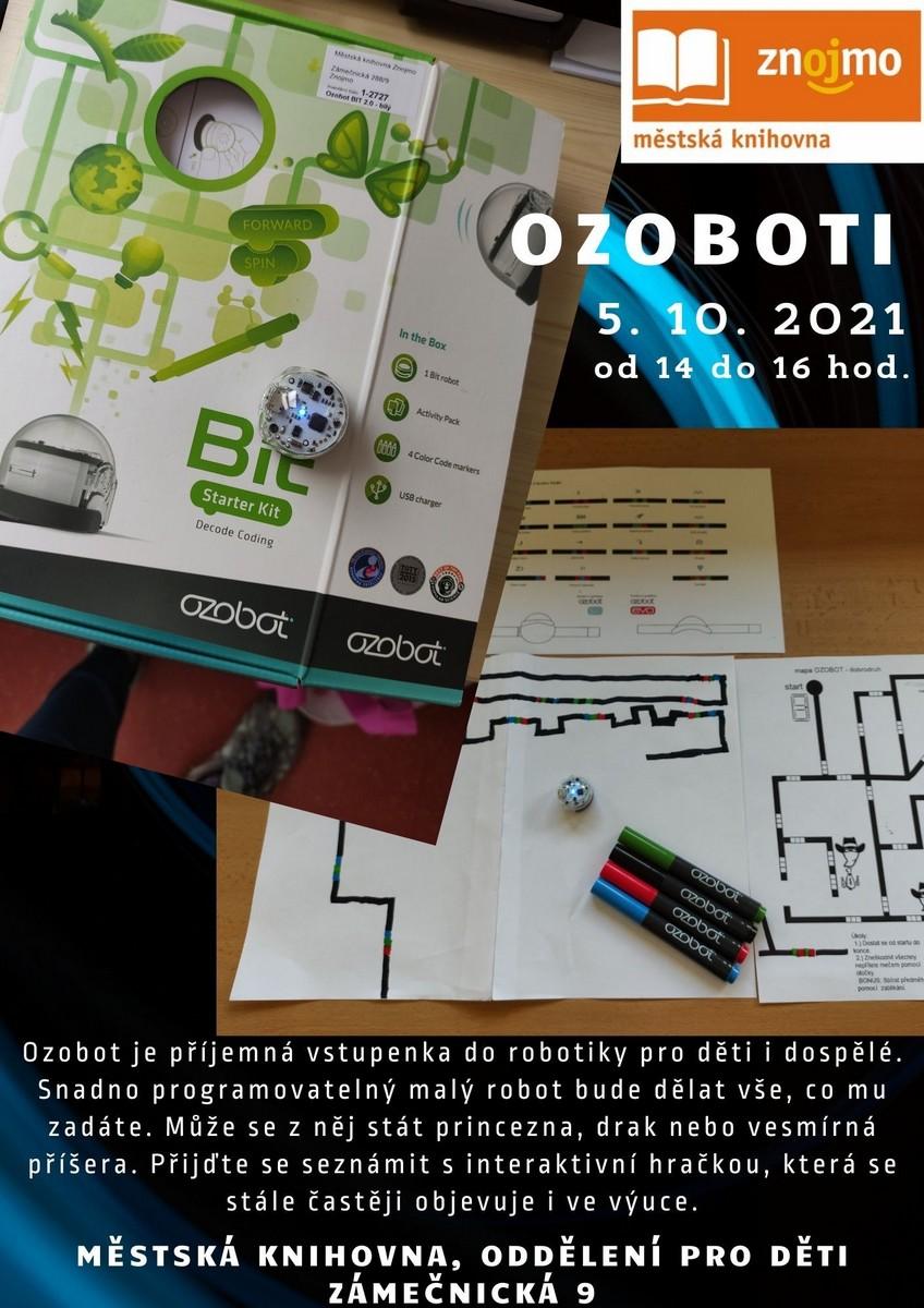 OZOBOTi v knihovně 5. 10. 2010 - 14 - 16 hod